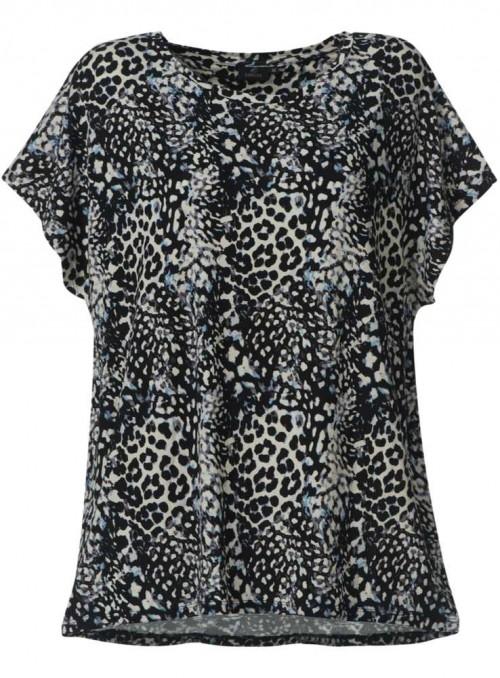 Bambus top Leopard, dame T-shirt