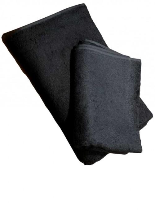 Bambus håndklæde sort 100 X 50