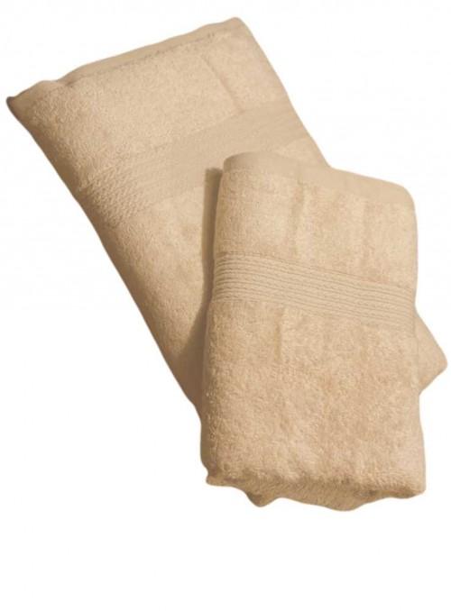Bambus håndklæde sand 100 x 50
