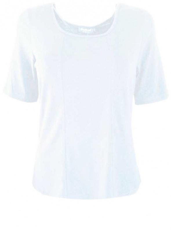 Bambus T-shirt str. L-4XL kortærmet hvid fra Festival