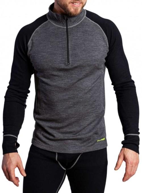 Bambus/merinould baselayer t-shirt herre, ski-undertrøje