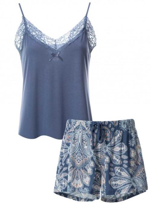 Pyjamas-sæt med shorts af bambus-jersey 2 dele