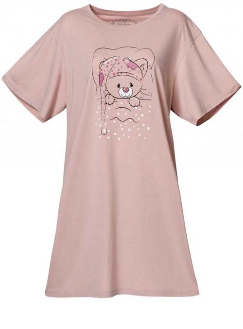 Bambus natkjole big-shirt Rose Bear